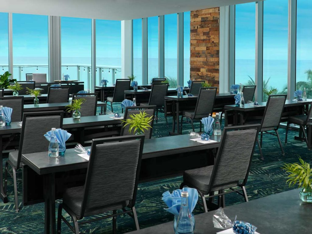 Meeting With An Ocean Front View In Miami.